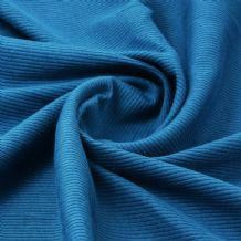 Teal - Plain 100% Cotton 2x1 Rib